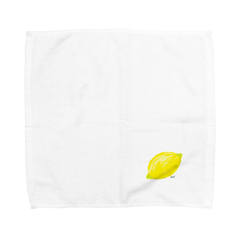 ☆tm3☆の檸檬 白 Towel handkerchiefs
