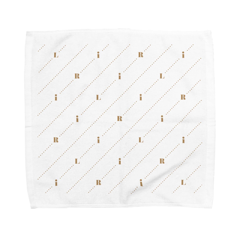RiLiのモノグラム(ロゴ) Towel handkerchiefs