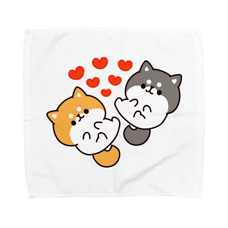 DECORのお返事シバイヌくん 茶柴&黒柴ver. Towel handkerchiefs