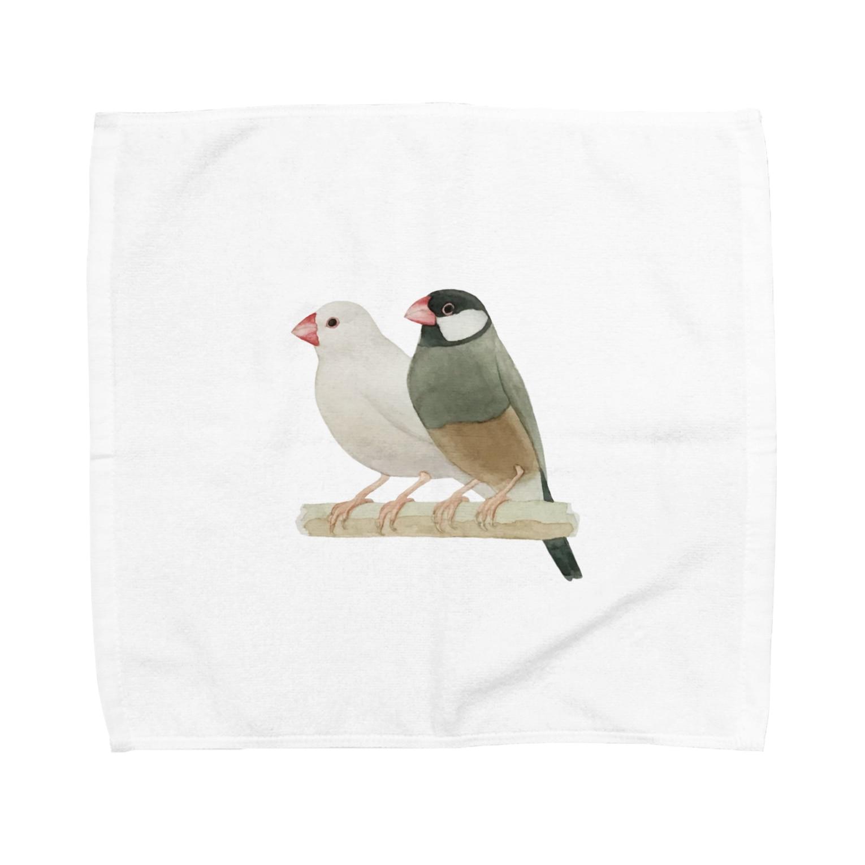 nebulianの文鳥のグッズ Towel handkerchiefs