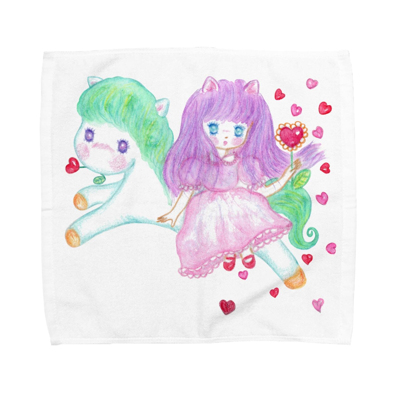 メルティカポエミュウのメルティカポエミュウ Towel handkerchiefs