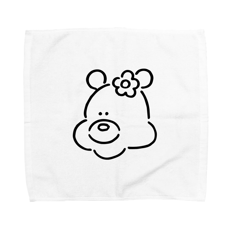 ミックスジュース。のくま(おんなのこ) Towel handkerchiefs