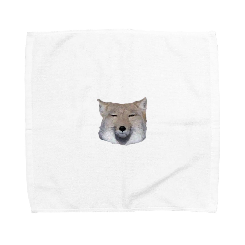 zeenのチベットスナギツネ Towel handkerchiefs
