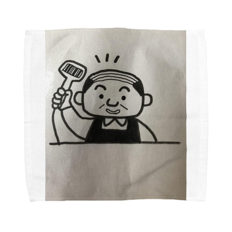 nico502のバーコードコンビニ店長 Towel handkerchiefs