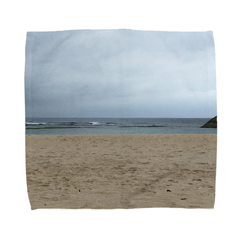 maik1982の沖縄の浜辺 Towel handkerchiefs