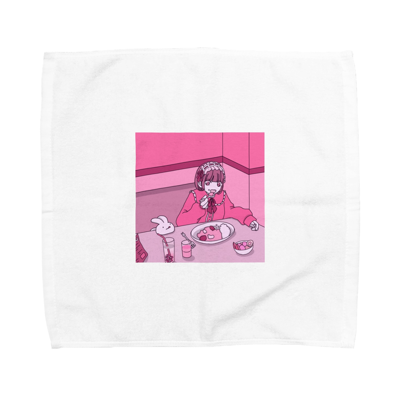 KEIchanのかわいいを食べる女の子 Towel handkerchiefs