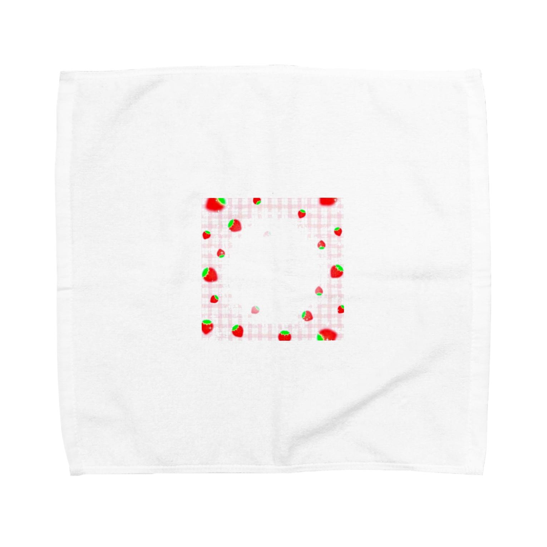 mero46のいちご Towel handkerchiefs