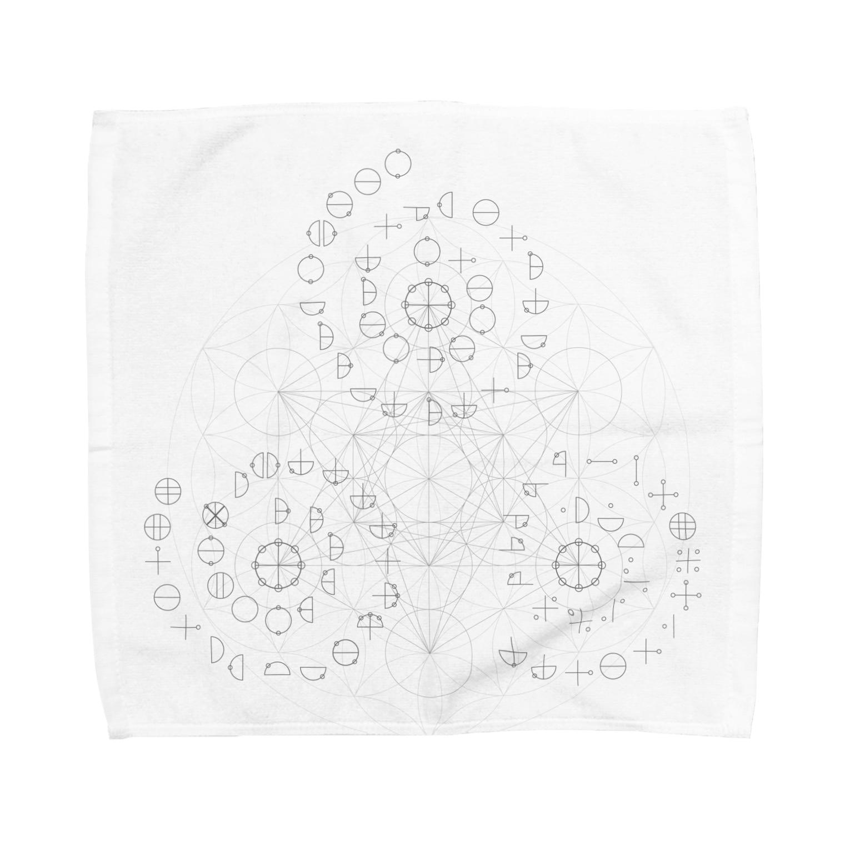 metawo dzn【メタをデザイン】のカタカムナ567(BK) Towel handkerchiefs