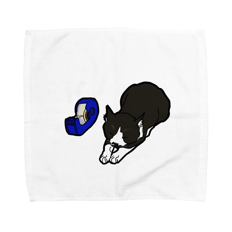西郷トロSHOPのセロハン寝チビ Towel handkerchiefs