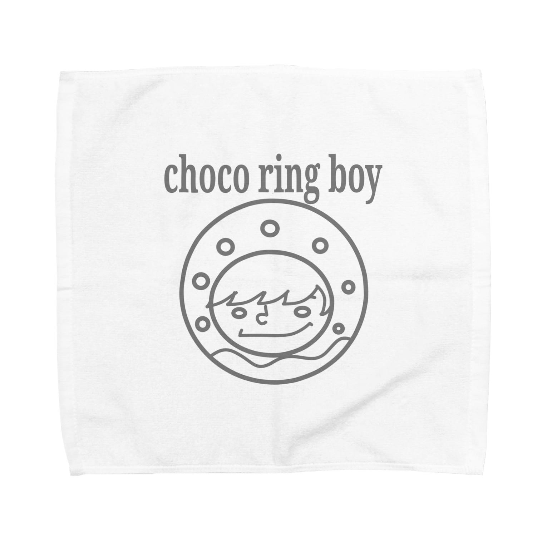 チョコリングボーイのお店のchoco ring boy / type-C Towel handkerchiefs