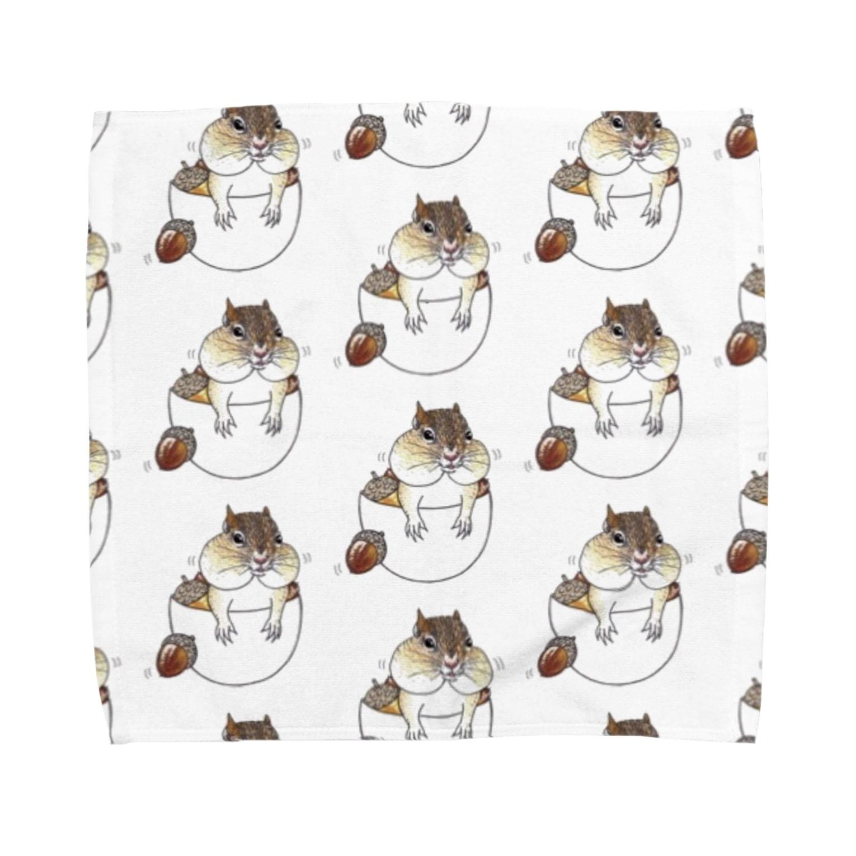 Leee_sanのシマリス Towel handkerchiefs
