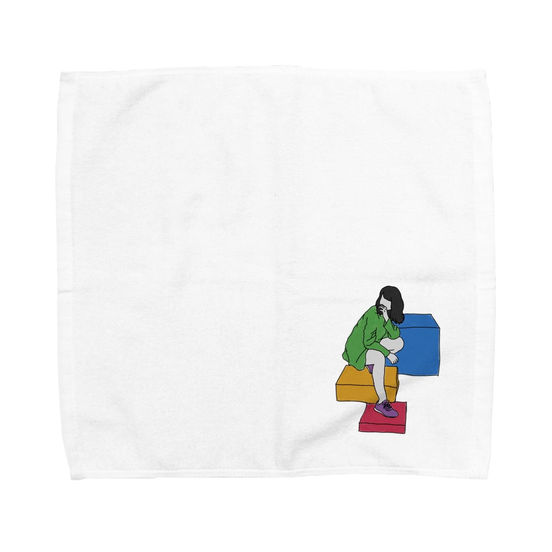 dolparchitectのカラフルナセカイ Towel handkerchiefs