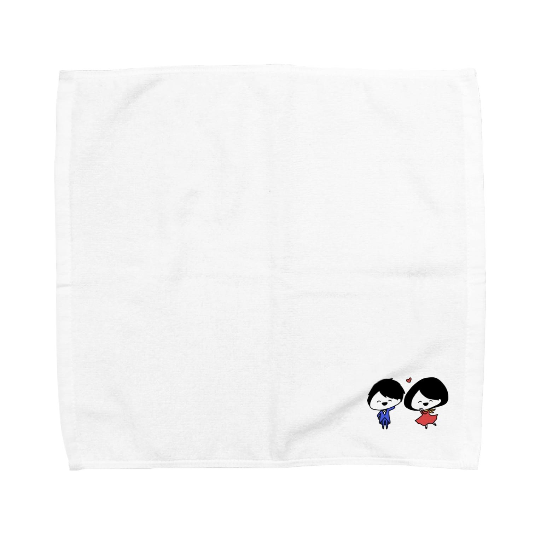 ゆるちこさんのおみせのあかちびちゃん と あおちびくん Towel handkerchiefs