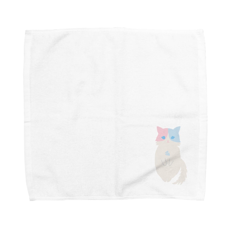 おもち屋さんのおすまし猫(1) Towel handkerchiefs