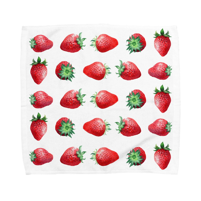 山田理矢のいちご Towel handkerchiefs