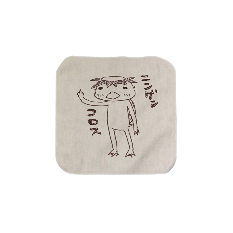 wacchocoの闇深いカッパ Towel handkerchiefs