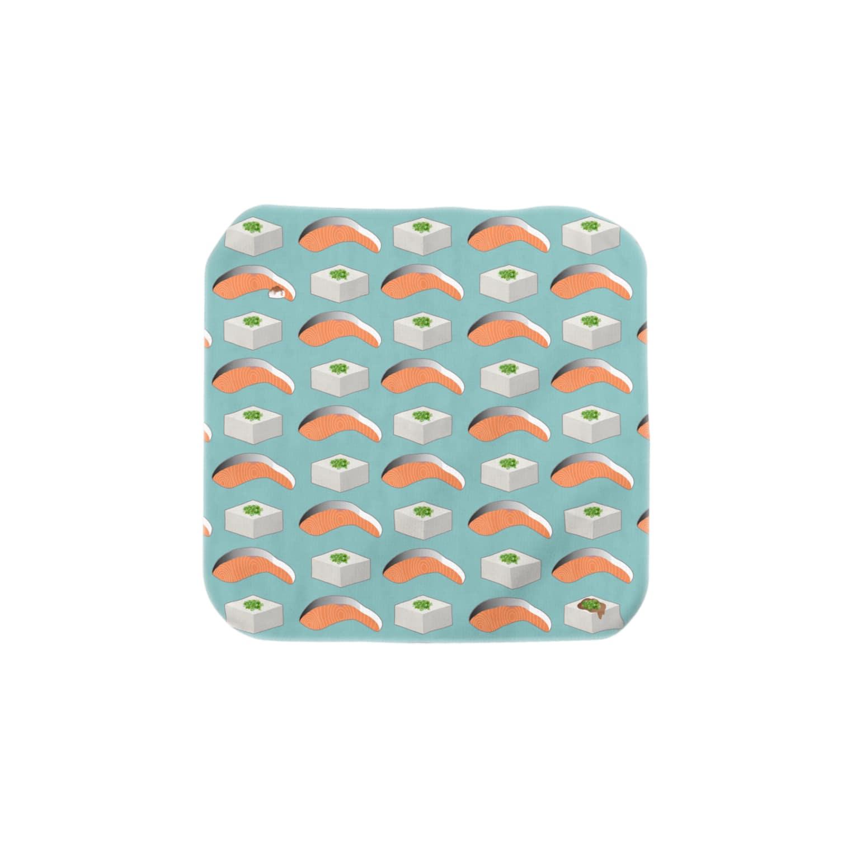 夏野の鮭と豆腐 Towel handkerchiefs