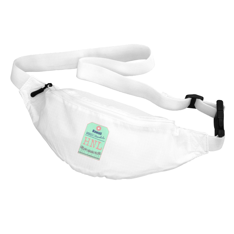 mahaloa968のハワイバゲージタグ風(やしの木) Body Bag