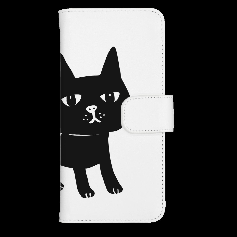 オクマーSUZURIショップのまっくろ黒猫ちゃんウォレットフォンケース