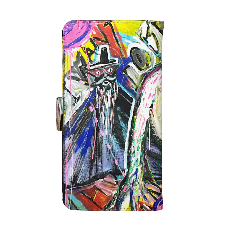 DoiMayumiのPOP ART(博士とBOUNINGEN) ウォレットフォンケース