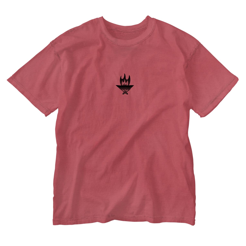 Littleきゃんぷサイトの焚き火台くん Washed T-shirts