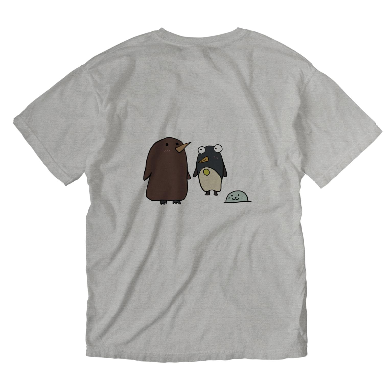 ぺけ丸のコウテイペンギンの赤ちゃん  Washed T-shirtsの裏面