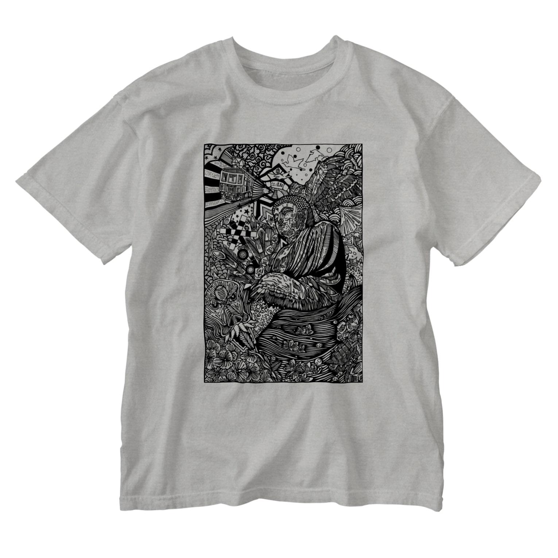 イトスク の鎌倉ワールド Washed T-shirts