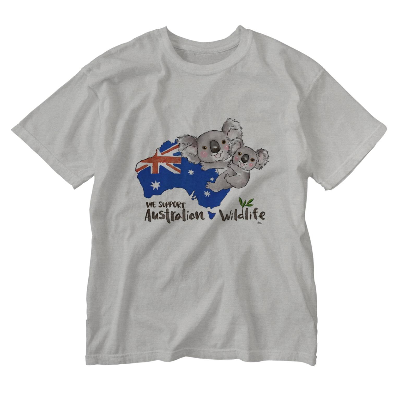🐈aco🐕のオーストラリアへの寄付 Washed T-shirts