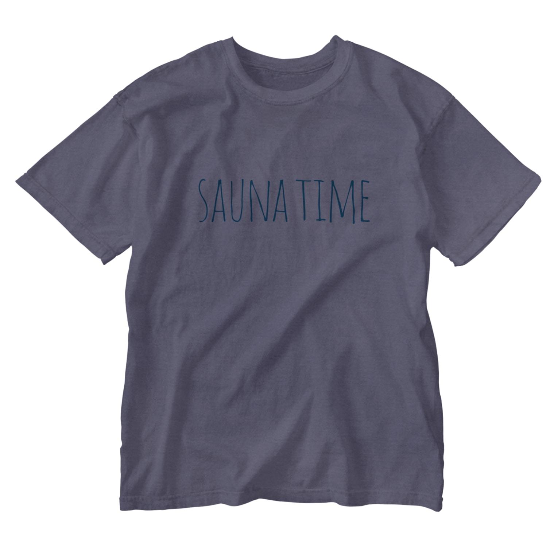 SAUNATIMEのサウナタイム Washed T-shirts