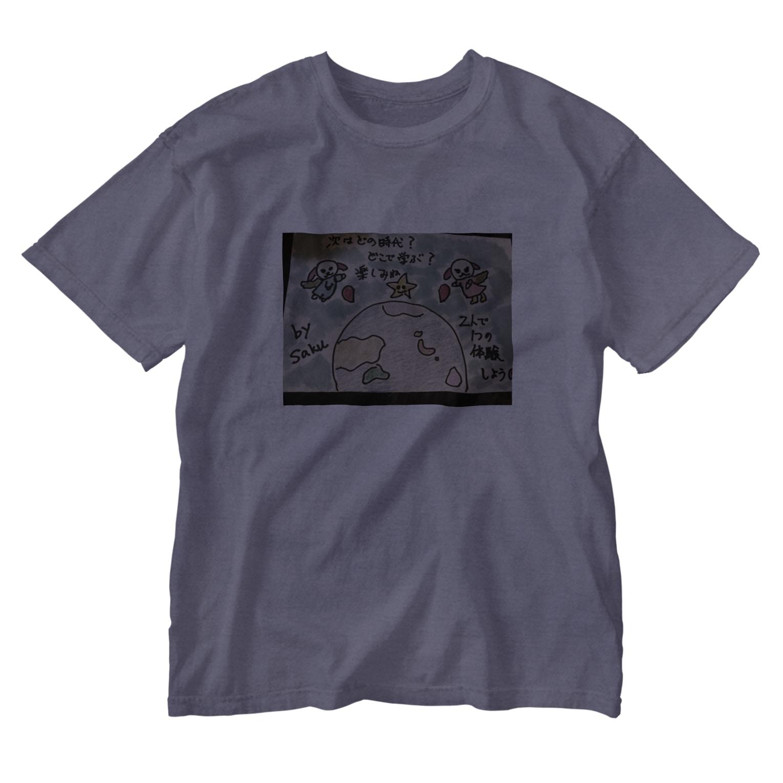 サクアンドツバミルヨシの魂の設定 Washed T-shirts