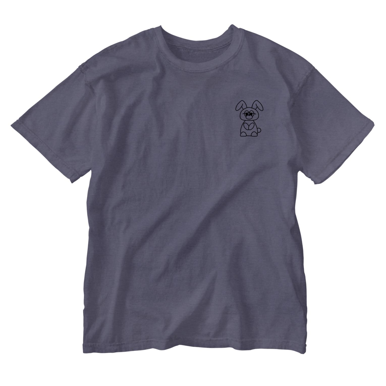 Hatena Questのやる気のないうさぎ Washed T-shirts