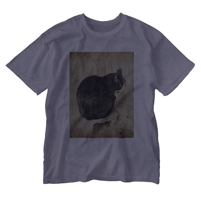 gwakのネコ Washed T-shirts