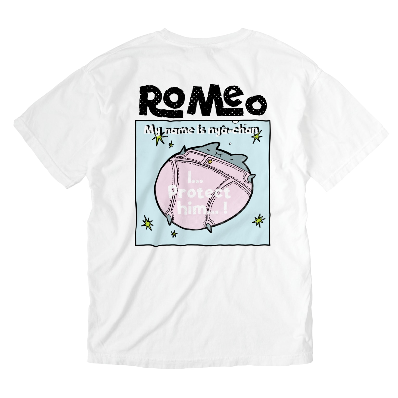 SHOP ROMEO のRomeo My name is nya-chan Washed T-shirtsの裏面