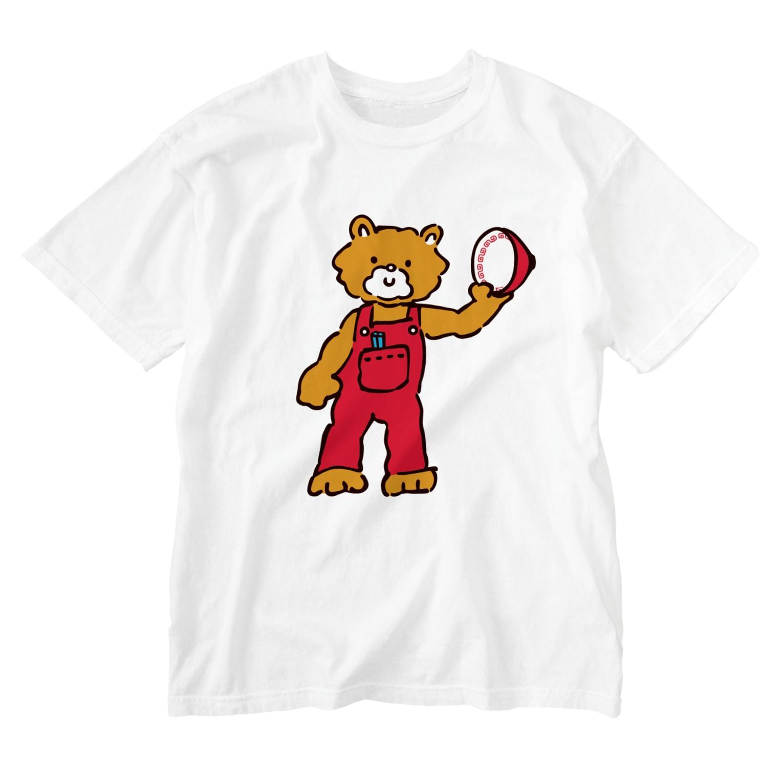 M-kuwaharaのベアー Washed T-shirts