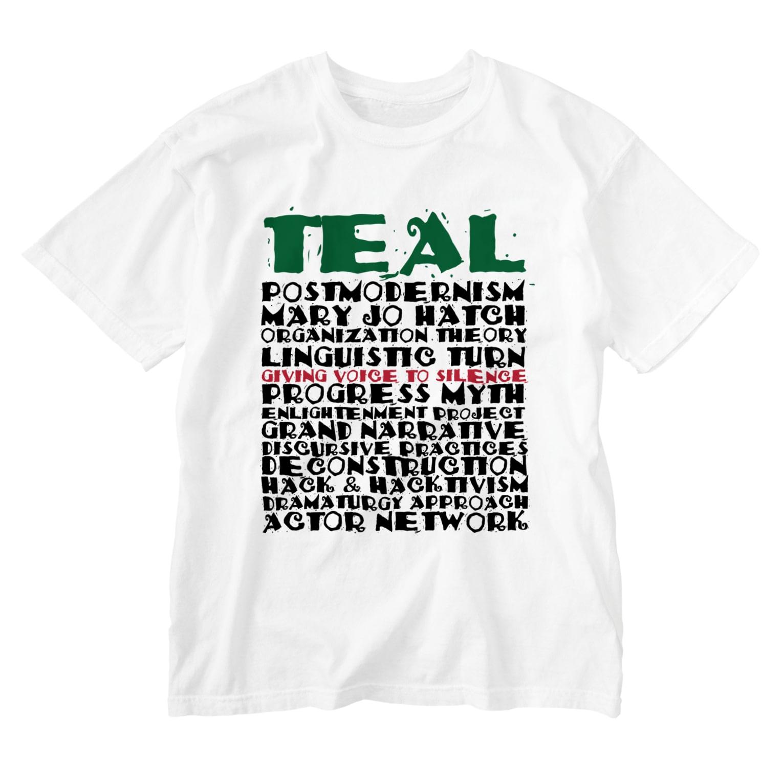 TEALのOrganizational theory Washed T-shirts