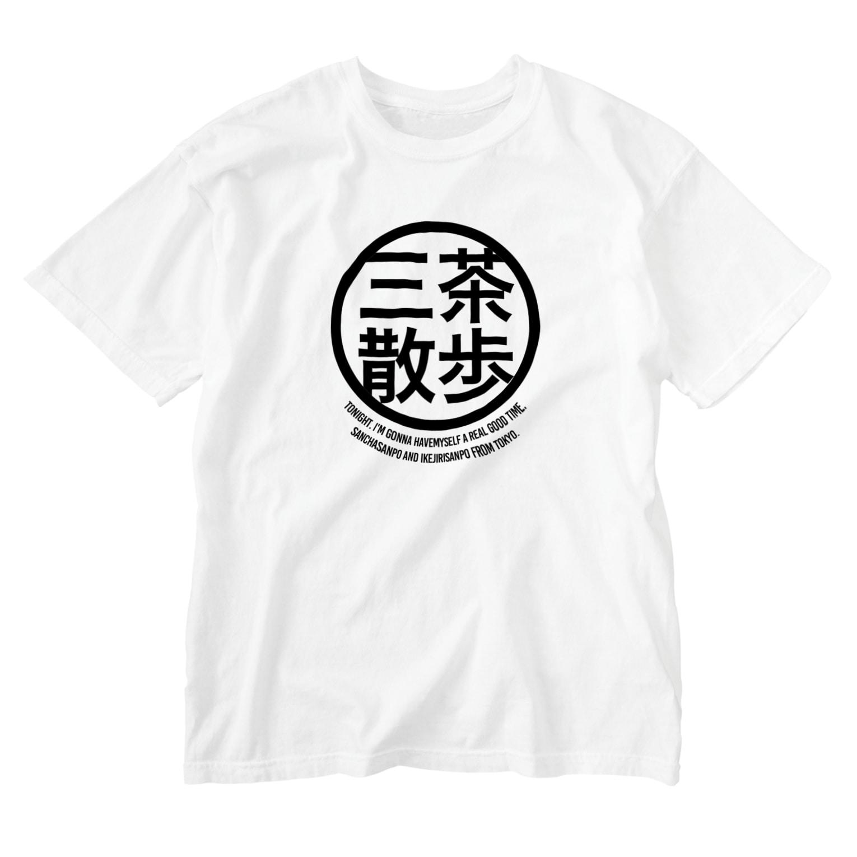 THREE TEA GO.のTHREE TEA GO. KANJI Washed T-shirts