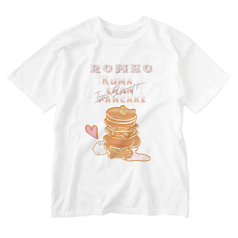 SHOP ROMEO のRomeo kumachan pancake Washed T-shirts