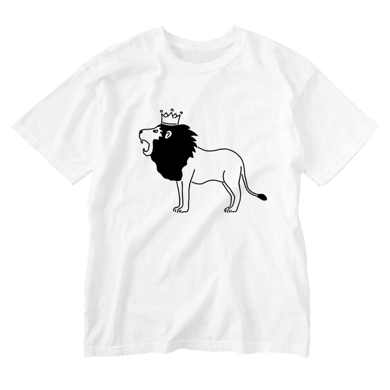 Aliviostaのライオンキング 動物イラスト Washed T-shirts