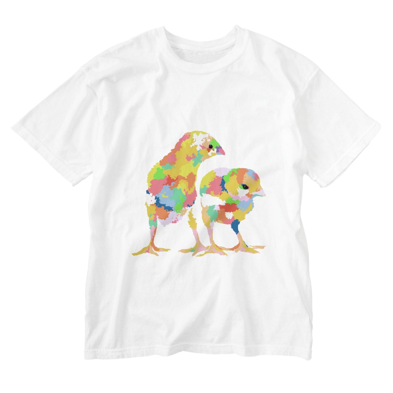 meiroの思考するひよこ Washed T-shirts