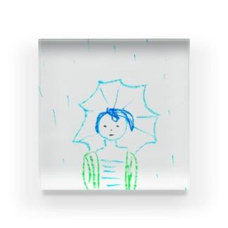 ばか。雨の、ばか。 Acrylic Block