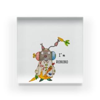 ROBOBO 「まーぶるロボ」ウサギ スチームパンク Acrylic Block