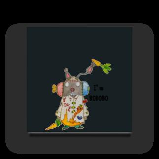ねこぜや のROBOBO 「まーぶるロボ」ウサギ スチームパンク Acrylic Block