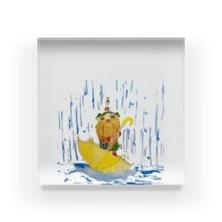 グリちゃんと雨 Acrylic Block