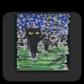 ねこぜや の黒猫の夜 Acrylic Block