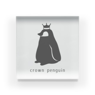 Crown Penguin Acrylic Block