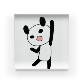 やる気に満ちたパンダ Acrylic Block