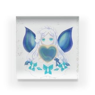 佳菜の青の小さな妖精 Acrylic Block