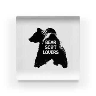 """Linda"" for Bear Scat Lovers Acrylic Block"