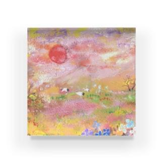 南陽台の夕日 Acrylic Block