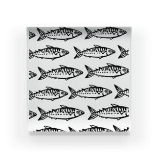 石川鯖右衛門の群れてる鯖たち Acrylic Block